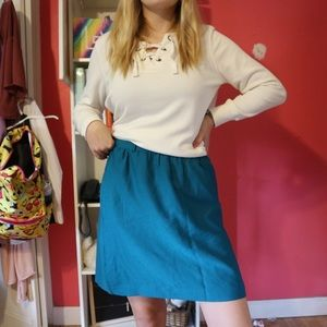 Cute turquoise skirt